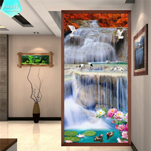 PSHINY 5D DIY Diamond embroidery sale beautiful natural Full Round Rhinestone landscape Painting new arrivals