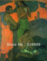 Paul Gauguin Oil Painting Reproduction on Linen canvas,Femmes sur le bord de la ,100%handmade,Free DHL Shipping,Museum Quality