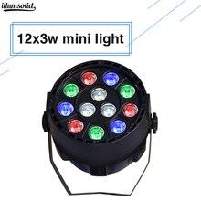 Светодиодный Par 12X3 W RGBW мини разноцветные стирка контроллер DMX стены светодиодный плоский параболический алюминиевый рефлектор dj этап