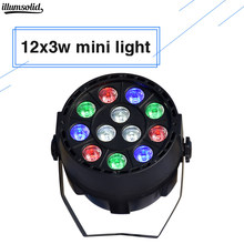 LED Par 12X3W lavagem RGBW mini color mix parede Controlador DMX Led Plana Par pode dj stage(China)
