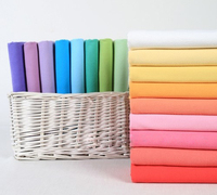 Good Quality Cotton Fabric Solid Color Cloth For Garment Sewing Accessories Rainbow Color Fabric For Curtain