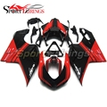 Full Injection ABS Plastic Black Red Fairing Kit For Ducati 1098 848 1198 Year 2007 2008 2009 2010 2011 2012 Motorcycle Cowlings