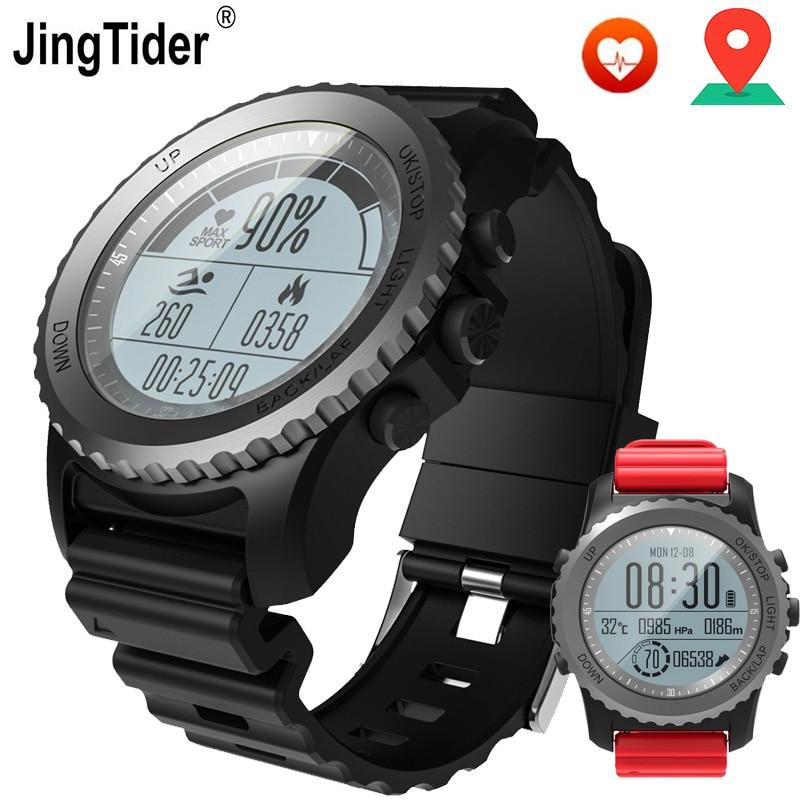 JingTider Professional Outdoor Sport Smart Watch S968 GPS Watch Heart Rate Monitor Climbing Swimming Snorkeling Waterproof IP68