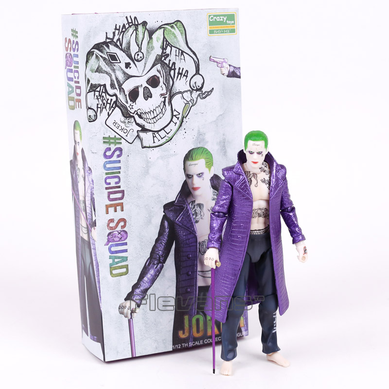 Crazy Toys Suicide Squad The Joker 1/12 th Scale PVC Action Figure Collectible Model Toy 17cm injustice gods among us the joker suicide squad shf s h figuarts the dark knight joker cartoon pvc action figure toy
