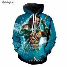 Hot Movie Aquaman 3D Print Jackets Men/women Hiphop Streetwear Blue Boys Fashion Outwear Clothes Oversized 5XL Harajuku