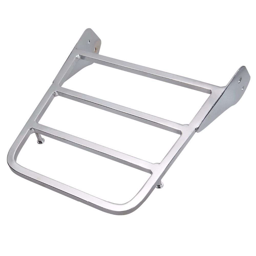 Crystearth Sissy Bar Luggage Rack For <font><b>Yamaha</b></font> VStar 400 <font><b>650</b></font> 1100 Classic 1998-2011 V-Star Dragstar <font><b>XVS</b></font> 1100 2000-2011 image