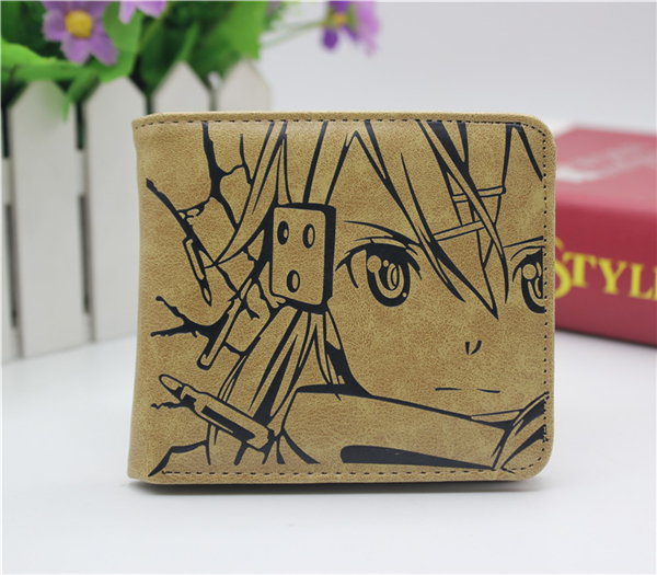 anime Sword Art Online GGO coin wallet Cosplay men women Bifold Purse japan anime love live wallet cosplay men women bifold coin purse