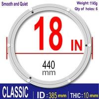CLASSIC 18 inch 445mm Furniture Hardware Accessories Lazy Susan Aluminum Swivel Plate