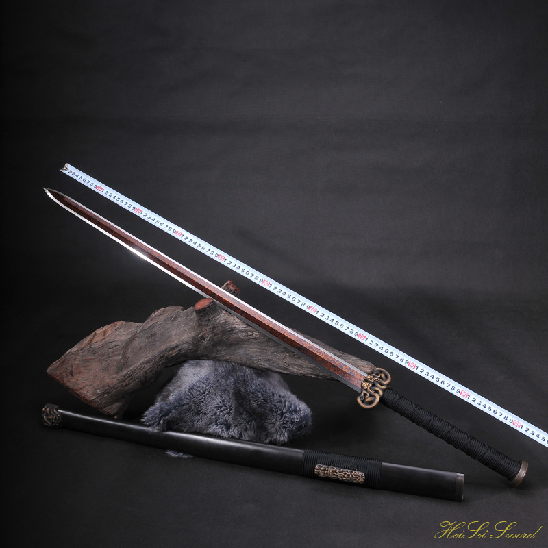 Hand Forged Chinese Han Sword Reding Blade Sharp Edge Real Sword Vintage Best Gift