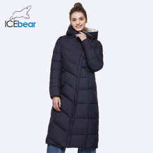 ICEbear 2017 New Winter Collection Warm Thicken Long Parkas Warm Woman Parka Jacket With Belt 17G661-1D(China)