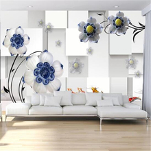 Custom wallpaper 3d murals ceramic flower TV background living room bedroom wall papers home decor papel de parede 3d wallpaper nordic minimal elk flying birds forest custom wallpaper living room tv backdrop sofa wall bedroom murals papel de parede