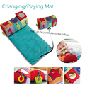 Mudança/jogar mat/pad pode ser embalado para o travesseiro, travesseiro com brinquedos, fácil de ir camping ou viagens, não à prova d' água.