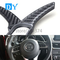 Carbon fiber ABS Steering Wheel Shift Paddle Extension Shifters Replacement For Mazda 3 Axela 6 Atenza CX-5 CX-4