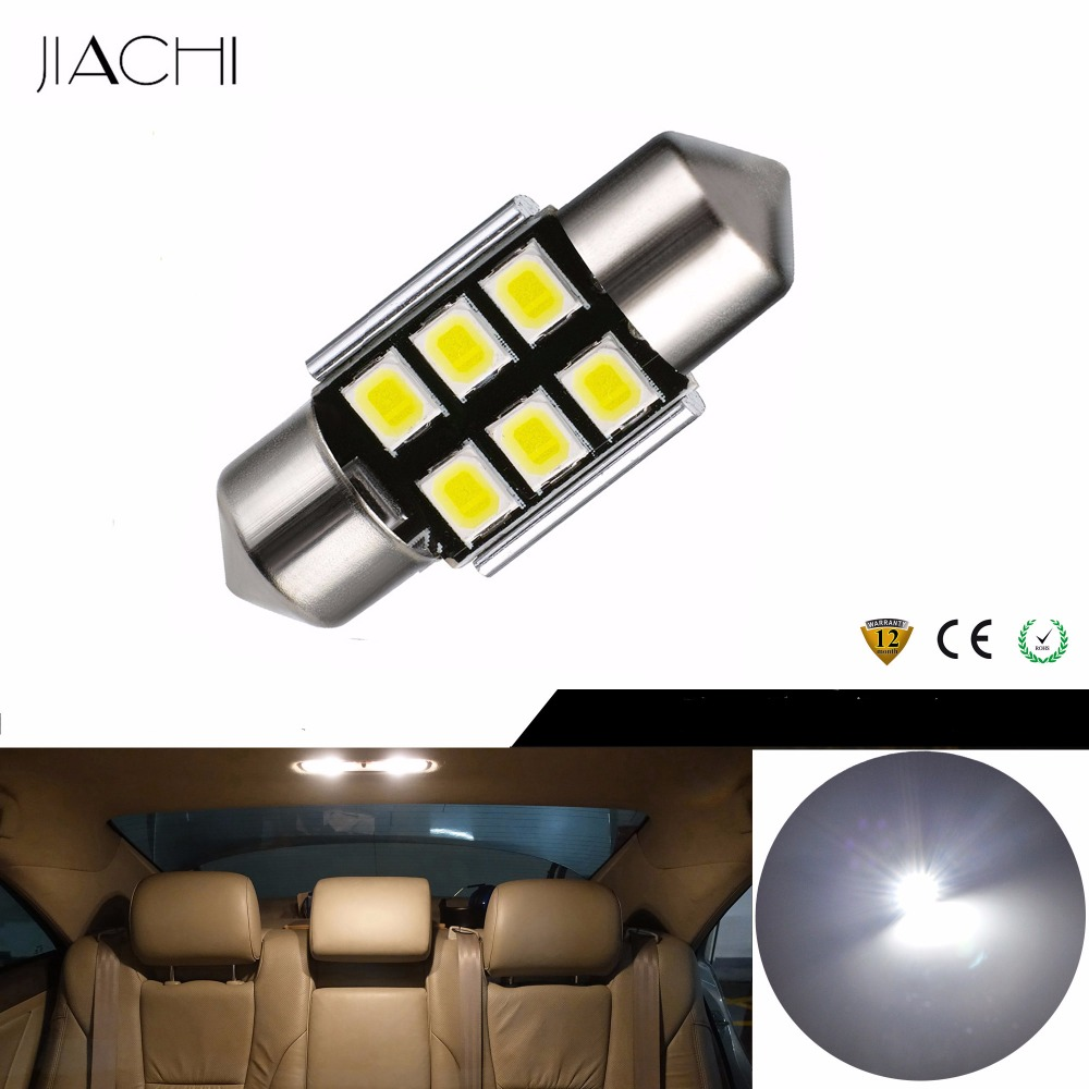JIACHI 100 x Auto LED Car Bulbs Festoon 31mm C5W 2835SMD 6Chips CANBUS Error Free For