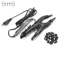 Neitsi 1 Euro Plug Hair Connector Black 50pcs Nail U Tips 3 Colors One Set Professional