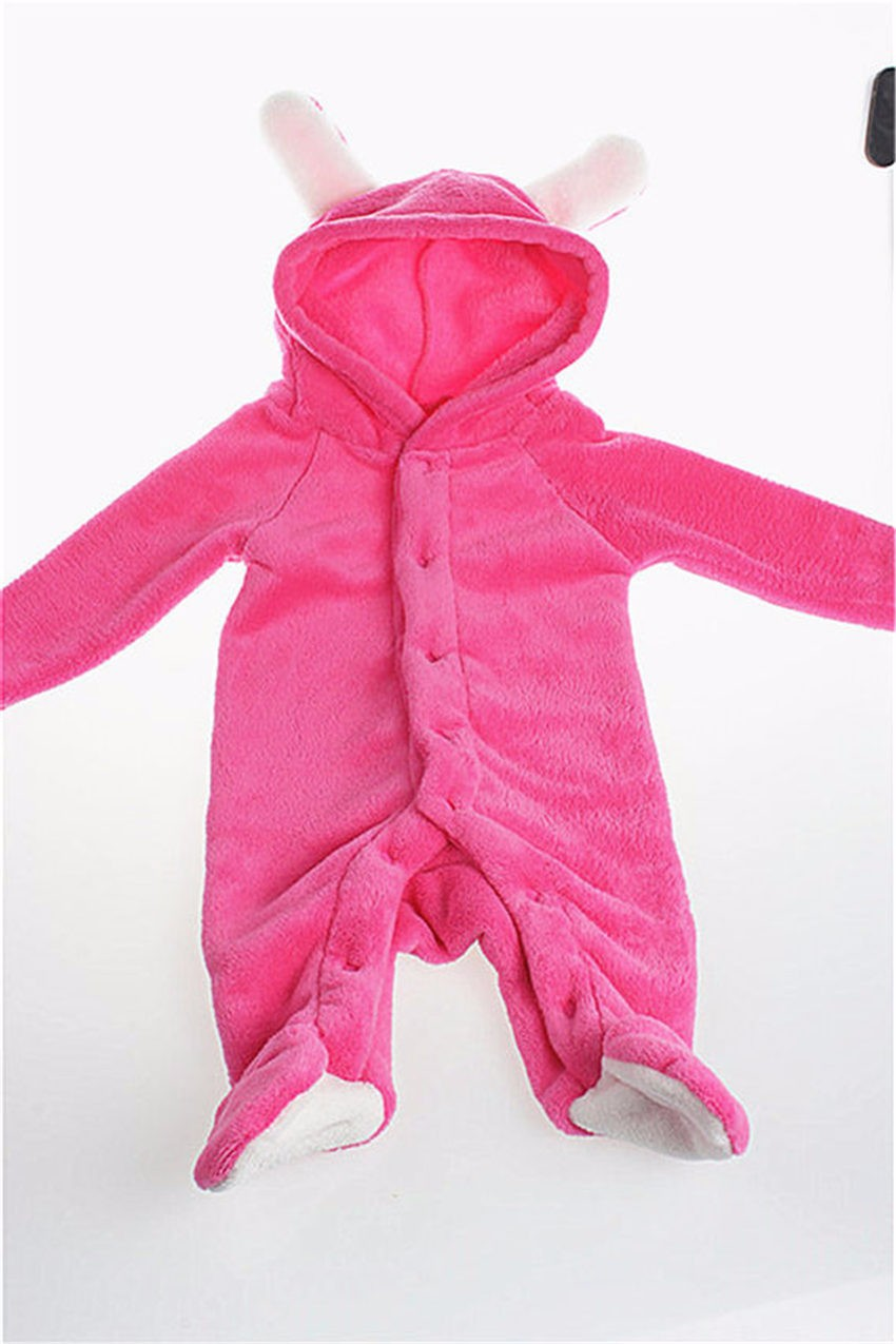 Coral Fleece Romper With Tail
