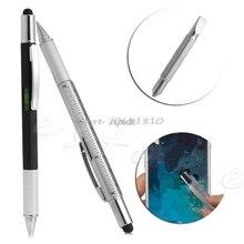 6 в 1 touch Стилусы шариковая ручка с дух уровне правитель Отвёртки новый инструмент Z17 Прямая поставка
