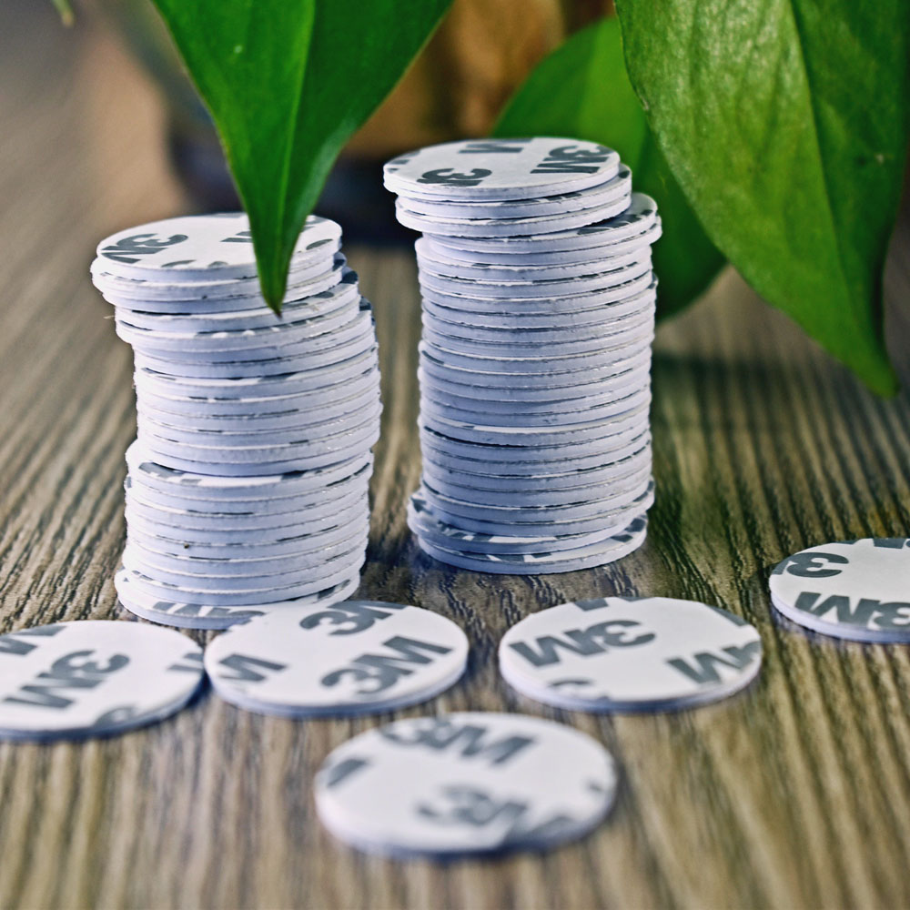 50pcs NTAG215 Round Coin Card NFC Forum Type 2 Tag High Performance With 3M Glue Film NFC Stickers Dia.25mm
