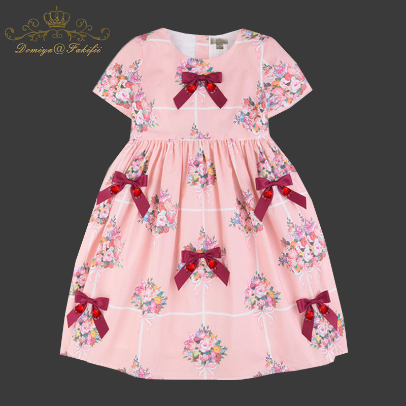 Baby Summer Casual Dress 2018 Girl Cute Birthday Party Dress Bow Pink Dresses For Weddings 3 Year Kids Clothes Costume Fairy uoipae girl party dress 2018 casual