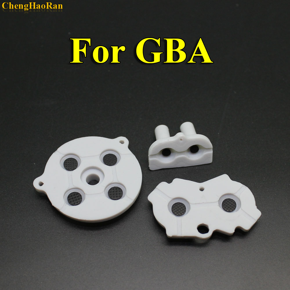 Image 4 - 30   100 sets New for GBA Rubber Conductive Adhesive Buttons pad for Game Boy Classic GBA Silicone Start Select Keypad-in Replacement Parts & Accessories from Consumer Electronics