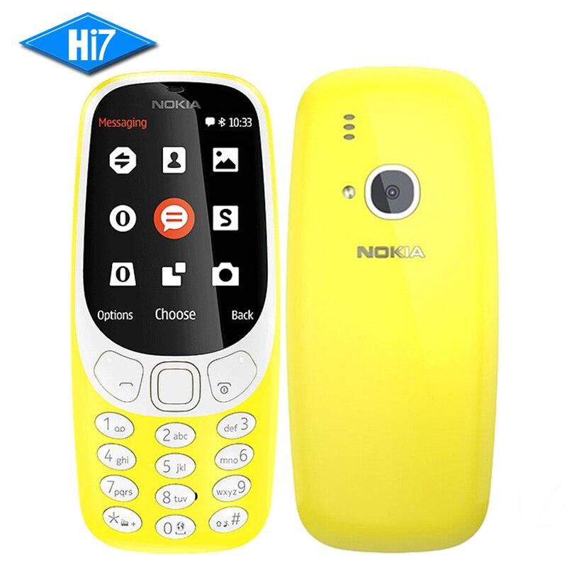 bilder für 2017 NEUE Original Nokia 3310 (TA-1030) 2,4 zoll screen 2MP handy GSM 1200 mAh Dual SIM Smartphone