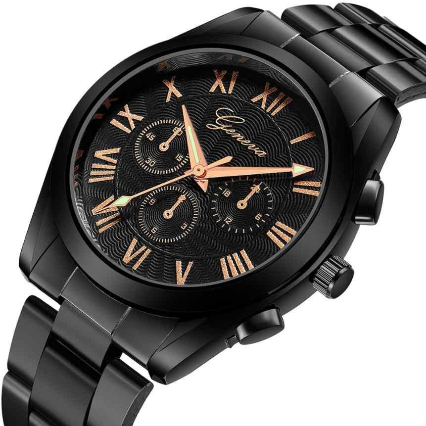 אולטרה דק שעון גברים horloge heren ז 'נבה שעון Mens שעונים נירוסטה קוורץ שעוני יד ספורט שעונים montres homme # N03