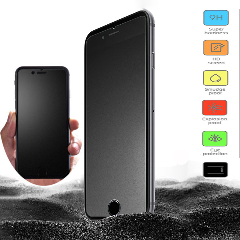 Frosted Tempered Glass For iphone X 7 6 6S Plus Matte Screen Protector For iPhone 5S SE Protective Glass Film Anti-fingerprintsFrosted Tempered Glass For iphone X 7 6 6S Plus Matte Screen Protector For iPhone 5S SE Protective Glass Film Anti-fingerprints