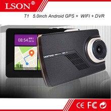 """5 """"Pulgadas 1080 P Wifi Androide GPS Navigator Pantalla Táctil de Navegación HD DVR Portátil Grabador de Mini cámara de la Rociada Leva"""