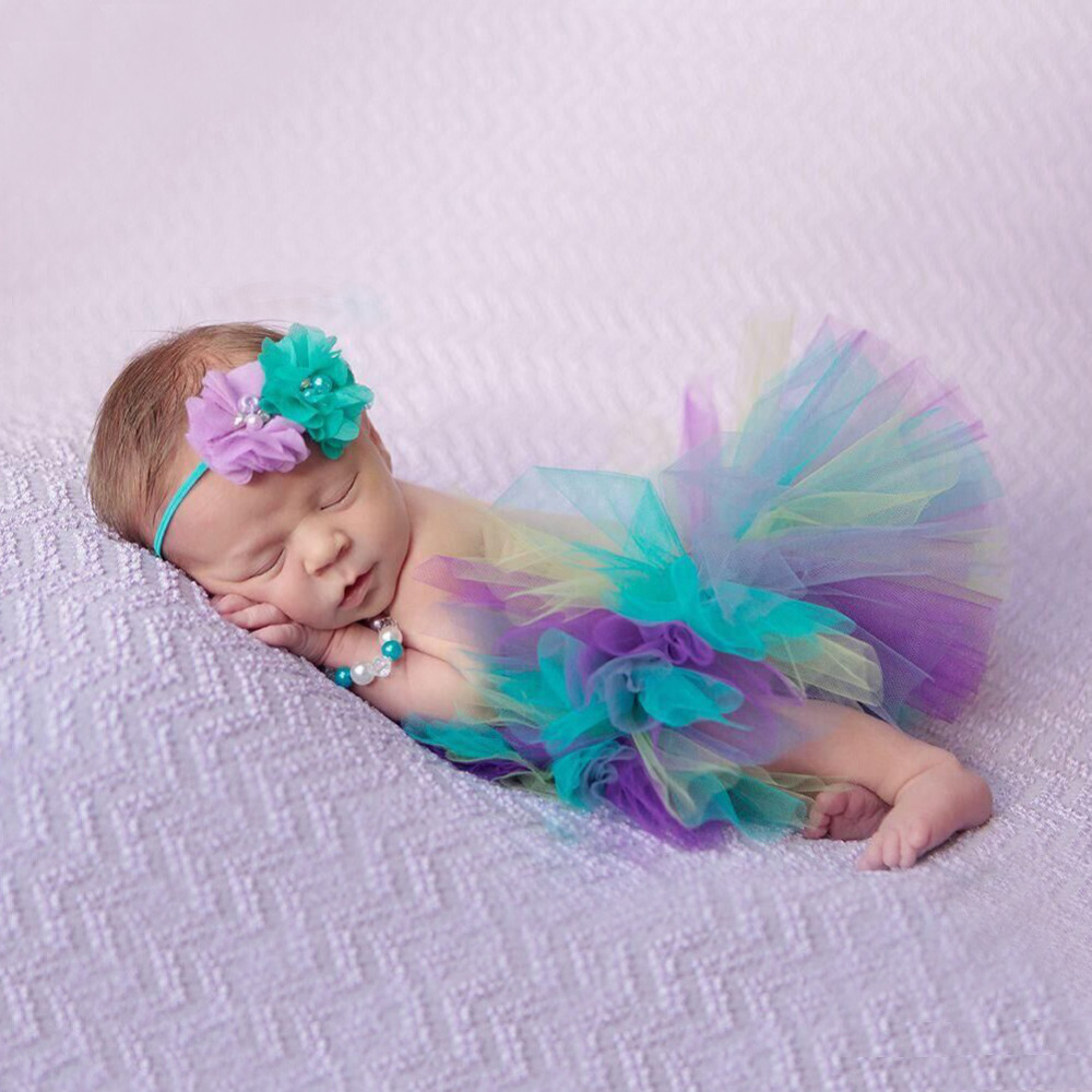 Infant Baby Tutu Princess Handmade Baby Ball Gown Baby Girls Skirts Colorful Bady Tutu Children's Skirt Costume Outfit