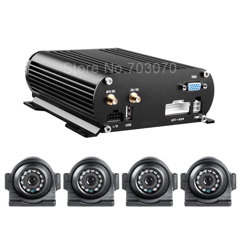 AHD 4CH HDD ավտոմեքենայի բջջային DVR- ն 3G - Ավտոմեքենաների էլեկտրոնիկա - Լուսանկար 3