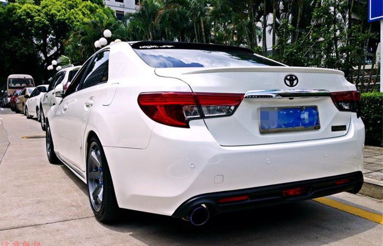 Primer unpainted ABS sports Car Rear bumper diffuser For TOYOTA Mark-X/REIZ 2013-2018Primer unpainted ABS sports Car Rear bumper diffuser For TOYOTA Mark-X/REIZ 2013-2018