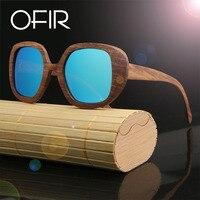 OFIR 2017 Brand Sunglasses Products Men Women Zebra Wood Sun Glasses Polarized Lens Wooden Frame Handmade