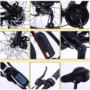 Image 5 - אופניים חשמליים 48v 500w10AH 26 אינץ אלומיניום סגסוגת ליתיום סוללה 27/21 מהירות אופני הרי MTB משלוח חינם Brushless מנוע