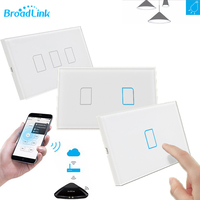 New EU Wifi Broadlink TC2 1Gang 2Gang 3Gang Wireless Remote Control Tempered Glass Touch Wall Light