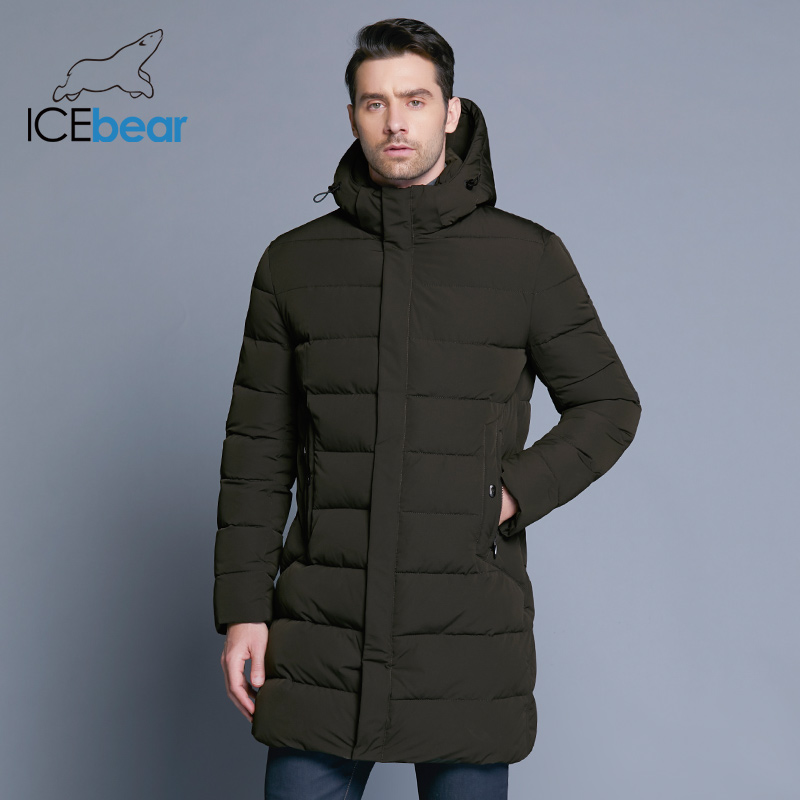 ICEbear 2019 แจ็คเก็ตฤดูหนาวชายหมวกอุ่นเสื้อ Causal Parkas ฝ้ายเบาะฤดูหนาวเสื้อแจ็คเก็ตผู้ชาย MWD18821D-ใน เสื้อกันลม จาก เสื้อผ้าผู้ชาย บน   3