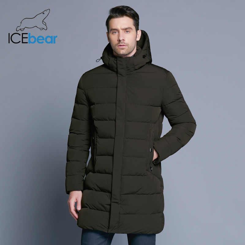 ICEbear 2019 冬のジャケットの男性帽子着脱式暖かいコート因果パーカー綿の冬のジャケット男性服 MWD18821D