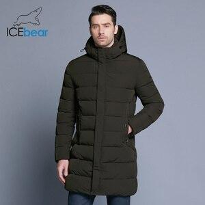 Image 3 - ICEbear 2019 חורף מעיל גברים כובע להסרה חם מעיל סיבתי מעיילי כותנה מרופדת חורף מעיל גברים בגדי MWD18821D
