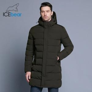 Image 3 - Icebear 2019 冬のジャケットの男性帽子着脱式暖かいコート因果パーカー綿の冬のジャケット男性服MWD18821D