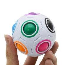 Fun Creative Spherical Magic Cube Speed Rainbow Football Ball Children Kids Spherical Magic Cube Learning Education