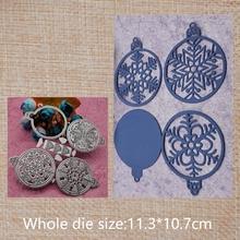 Hollow Snowflakes  Metal cutting dies Scrapbook DIY home decoration Album Crafts Paper Card 113*107 mm