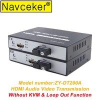 2019 HDMI Audio and Video Optical Fiber Extender Transceiver USB 2.0 KVM & Loop Out HDMI Fiber Optic Converter Fiber 20 KM SC