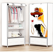 2018 móveis de armazenamento quando o quarto guarda roupa diy não tecido dobrável armário de armazenamento portátil quarto móveis roupeiro quarto