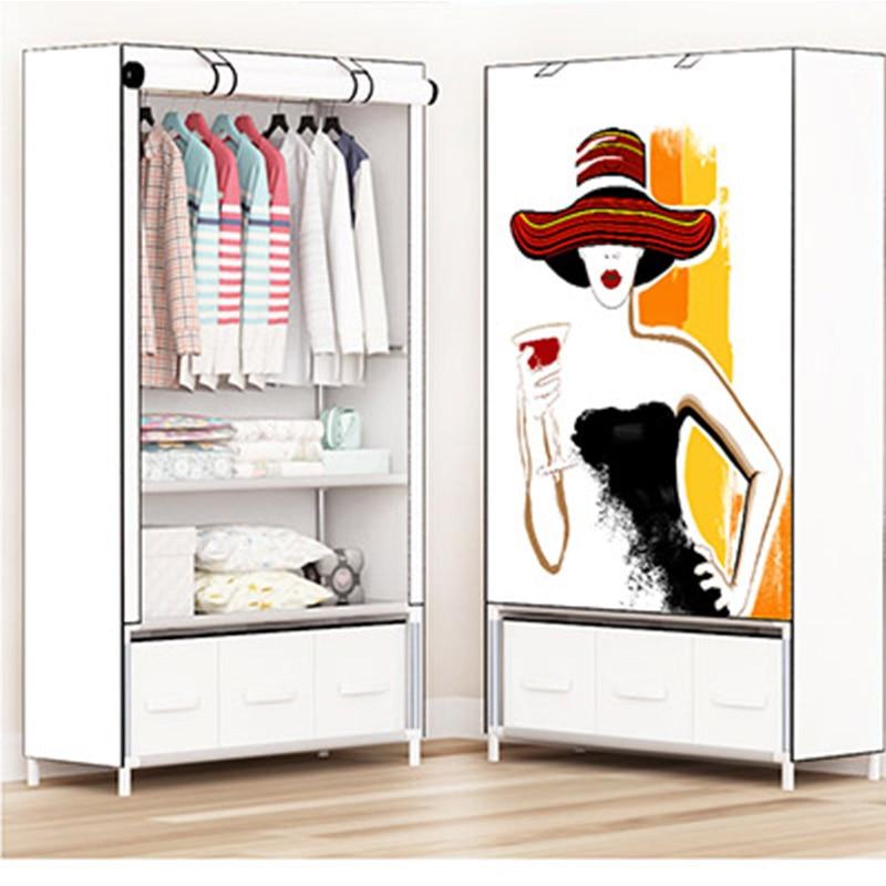 2018 storage furniture When the quarter wardrobe DIY Non-woven fold Portable Storage Cabinet bedroom furniture wardrobe bedroom