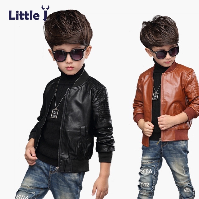 476e5e82f Clearance Kid Leather Jacket Handsome Boys Girls Winter Thick Velvet ...