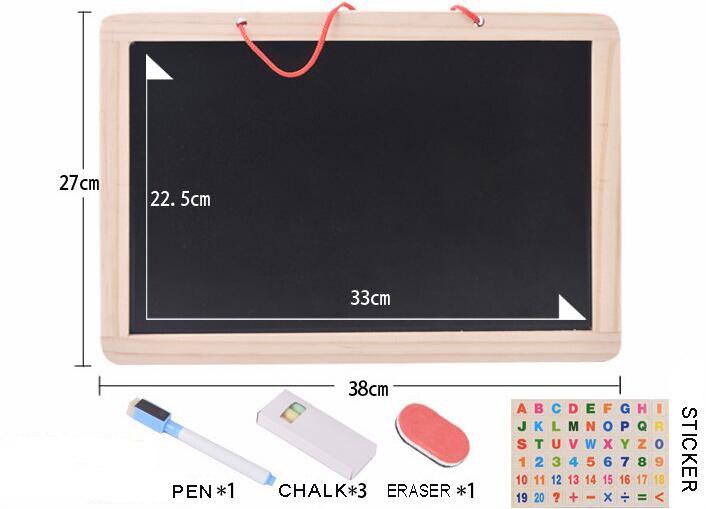 Double Side Magnetic Blackboard Hanging Chalkboard Set