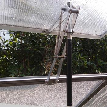 فتاحة نافذة أوتوماتيكية للبيوت الزجاجية الزراعية الحساسة للحرارة أدوات حديقة من الألومنيوم للبيوت الزجاجية