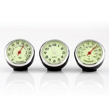 3 pcs Mini Car Automobile Digital Clock Auto Watch Car Therm