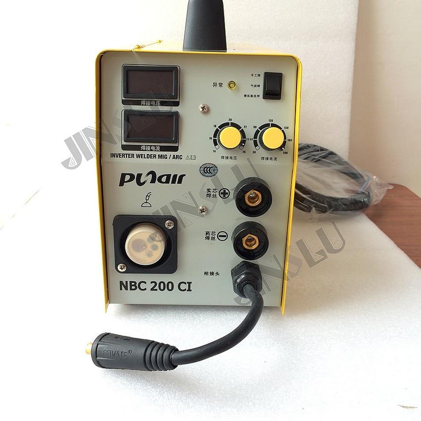 MIG200 MAG200 NBC200CI 220 V jednofazowy IGBT SPAWARKA CO2 w osłonie gazów spawacz