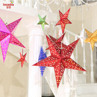 Christmas 30/45/60cm 3D Star Paper Lampshade Wedding Pub Hanging Decor Lampshade Home Hotel Lampshade