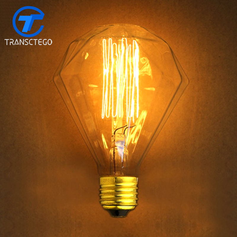 G95 Diamond Wire E27 220V Edison Light Bulb For bar Retro Style Decorative Bulb